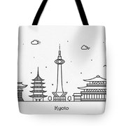 Kyoto Cityscape Travel Poster Tote Bag
