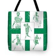 Kyrie Irving Boston Celtics Panel Pixel Art 1 Tote Bag