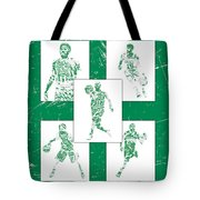 Kyrie Irving Boston Celtics Panel Pixel Art 1 Tote Bag