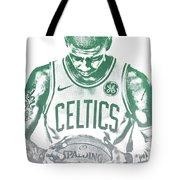 Kyrie Irving Boston Celtics Water Color Pixel Art 30 Tote Bag