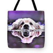 Labrador Swimming Tote Bag