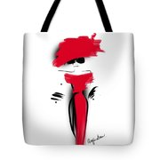 Lady In Her Red Dress Tote Bag