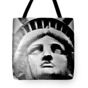 Lady Liberty In Black And White1 Tote Bag