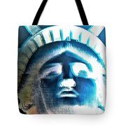 Lady Liberty In Negative Tote Bag