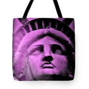 Lady Liberty In Pink Tote Bag