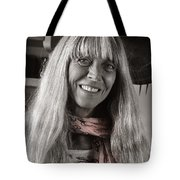 Lady With A Scarf Tote Bag by Ron Cline