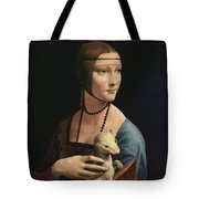 Lady With An Ermine, 1489 Tote Bag