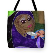 Lady With Child Tote Bag