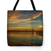 Lagoon Sunbeam Sunrise Tote Bag
