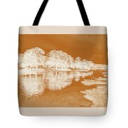 Lake Reflections In Brown Tote Bag