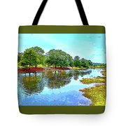 Lake Reflections On A Sunny Day Tote Bag