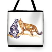 L'amour - Cats In Love Tote Bag