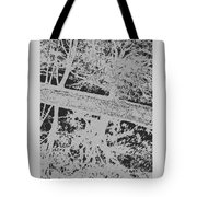 Langan Park - Tree Reflections On A Slant - Silver And Black Tote Bag