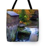Lanterman's Mill In Fall Tote Bag
