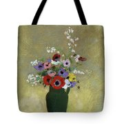 Large Green Vase With Mixed Flowers, 1912 Tote Bag