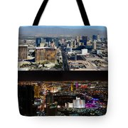 Las Vegas Night And Day Work A Tote Bag