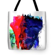 Las Vegas Skyline Brush Stroke Watercolor   Tote Bag