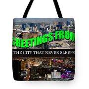 Las Vegas The City That Never Sleeps Custom Pc Tote Bag