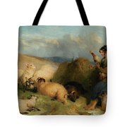 Lassie Herding Sheep Tote Bag