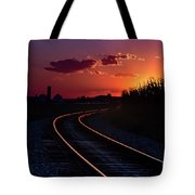 Last Night's Sunset Tote Bag