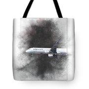 Latam Brasil Airbus A321-211 Painting Tote Bag