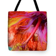 Laughing Hibiscus Tote Bag