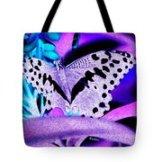 Lavender Butterfly Tote Bag