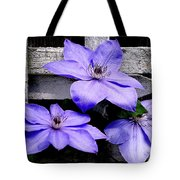 Lavender Clematis On Vine Tote Bag