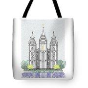 Lds Salt Lake Temple - Colorized Tote Bag