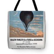 Le Ballon Aeronautical Journal, 1883 French Poster Tote Bag