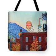 Leading Green - Antique Signs Of Roanoke Virginia Tote Bag