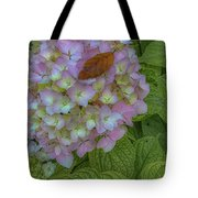 Leaf And Pink Tote Bag