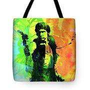 Legendary Han Solo Watercolor Tote Bag