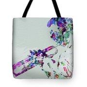 Legendary Miles Davis Watercolor Tote Bag