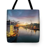 Leixoes Harbour Tote Bag
