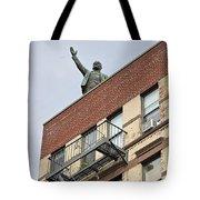 Lenin Statue In East Village N Y C Tote Bag