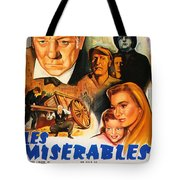 Les Miserables 1958 French Movie Classic Tote Bag
