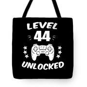 Level 44 Unlocked Video Gamer Birthday Gift Tote Bag