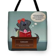 Library Newfie Tote Bag