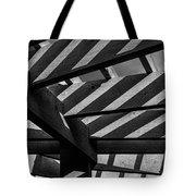 Light And Shadow Abstract Tote Bag