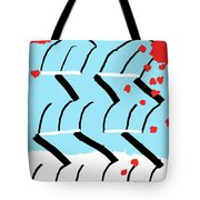 Light Blue Red  Tote Bag