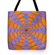 Light Violet On Blue, Yellow On Red Fractal Pattern Tote Bag