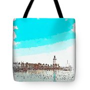lighthouse 9, watercolor by Adam Asar Tote Bag