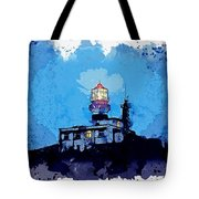 Lighthouse, Watercolor, C2019, By Adam Asar - 19 Tote Bag