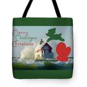 Lightouse Christmas Tote Bag