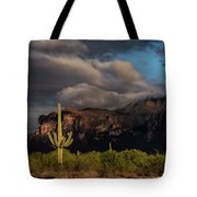 Light Play On The Superstitions  Tote Bag