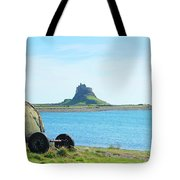 Lindisfarne Castle And Bay Tote Bag