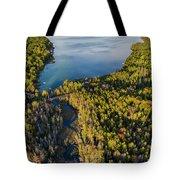 Litte Traverse Lake Vertical Panorama Tote Bag