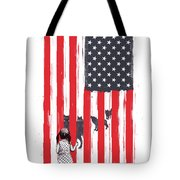 Little Girl And Wolves Tote Bag