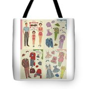 Little Golden Book Paper Doll Sees America Tote Bag